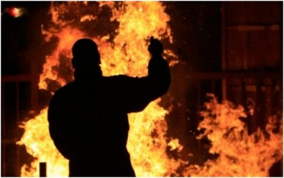 В Запорожье мужчина пытался устроить акт самосожжения